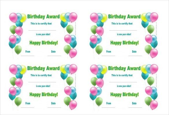 Birthday Certificate Template – 20+ Free PSD, EPS,In Design Format ...