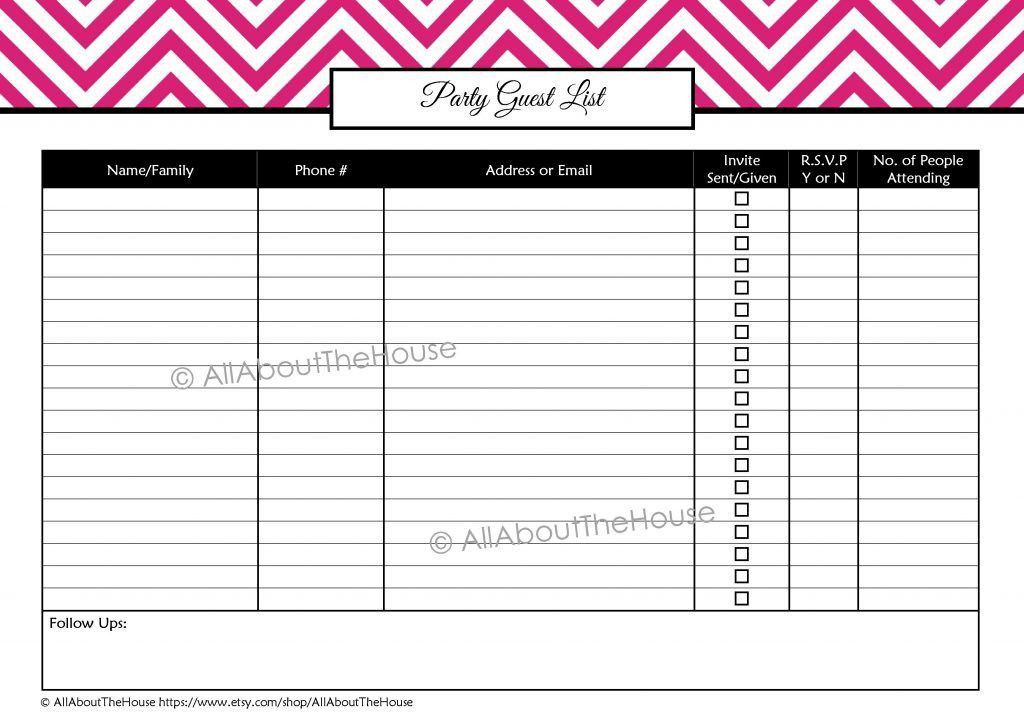 Party Guest List Sample Invoice With Gst Fee Receipt Format ...
