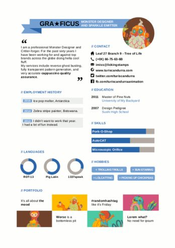 Designer's CV LibreOffice Template – Turi Scandurra