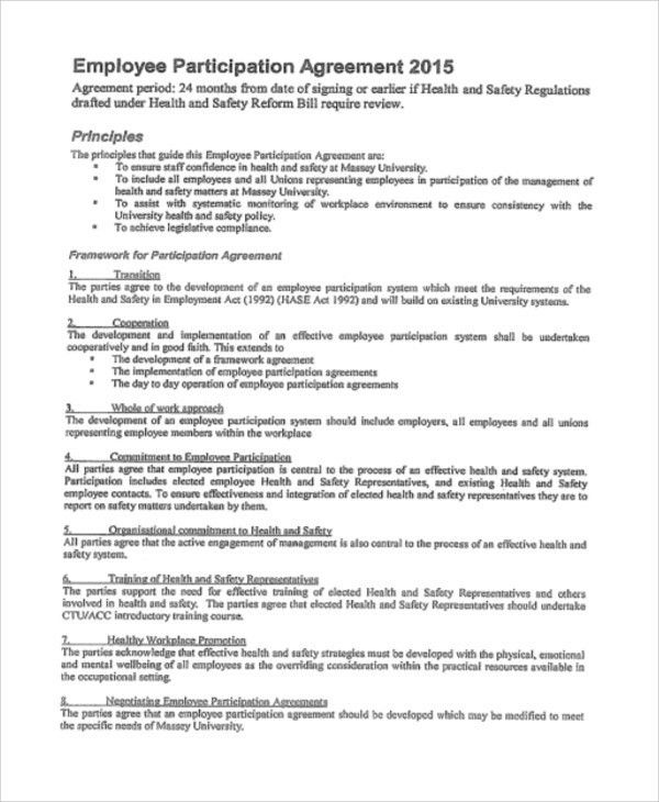 Participation Agreement Templates - 9+ Free Word, PDF Format ...