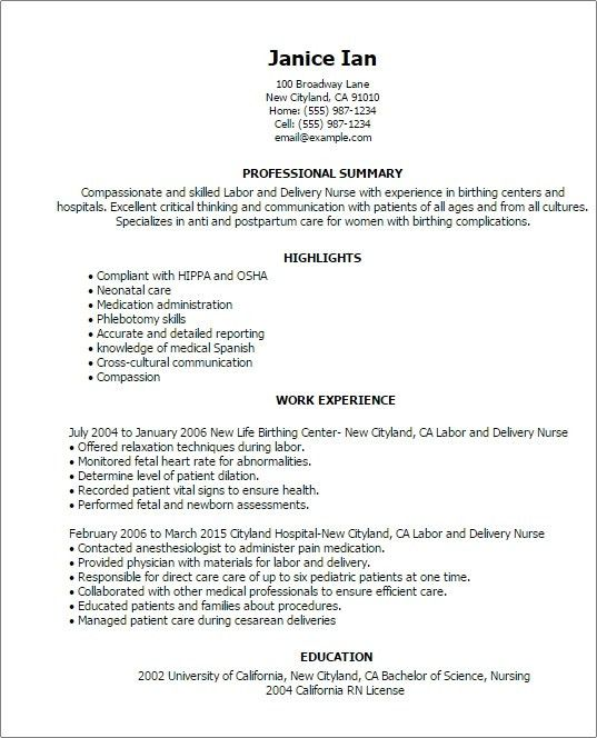 experienced registered nurse resume sample objective in resume for ...