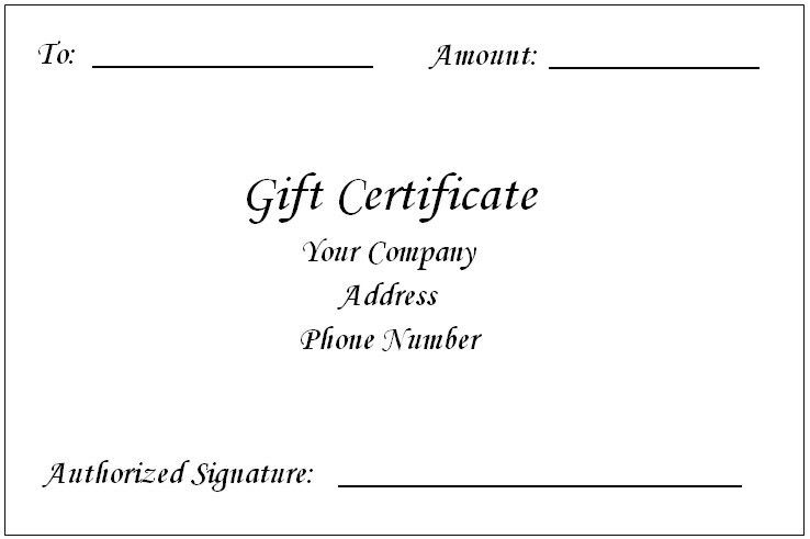 Free Gift Certificate Template For Word Custom Gift Certificate – Editable Gift Certificate Template