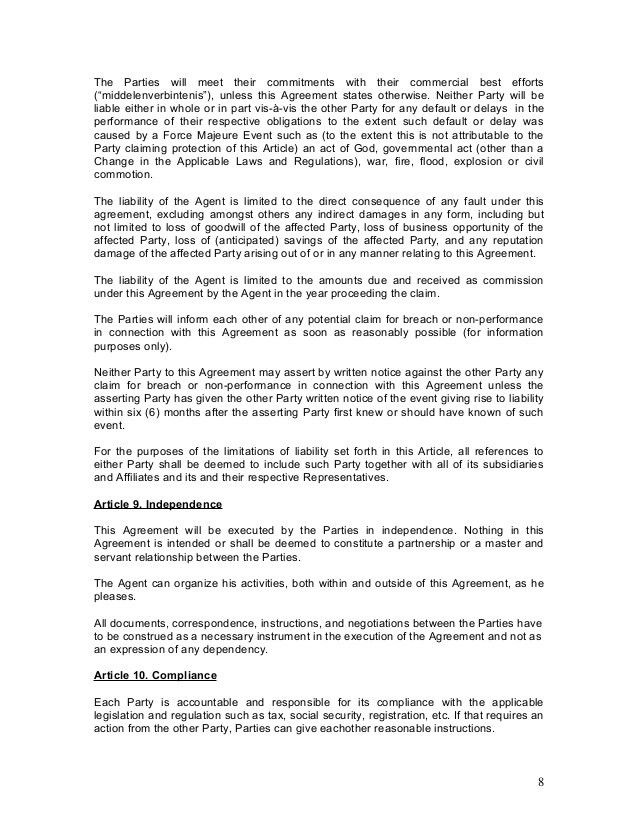 Sample Agency Agreement. Travel Agency Contract Form Sample Agency ...