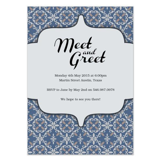 Meet and Greet , Invitations & Cards on Pingg.com