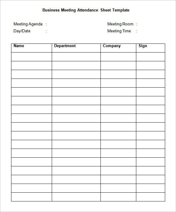 Sign In Sheet Templates - 52+ Free Word, Excel, PDF Documents ...