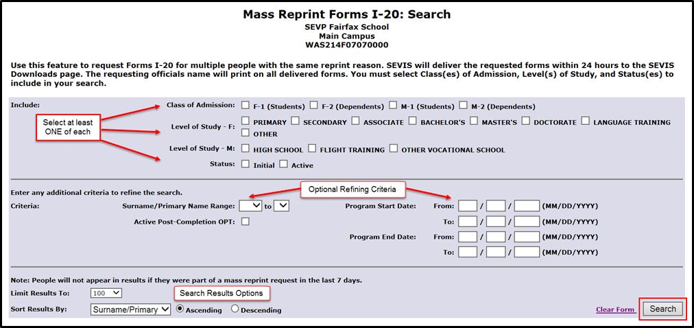 COE (Form I-20) Mass Reprint | Study in the States