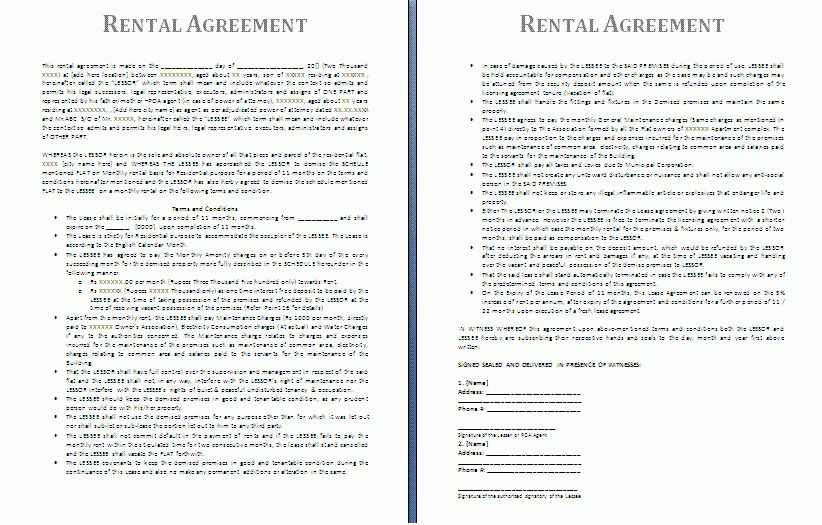 Rental Agreement Template | Free Agreement Templates