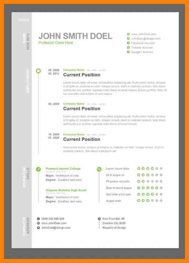 Resume Template Pdf. Free Basic Resume Format Free Basic Resume ...