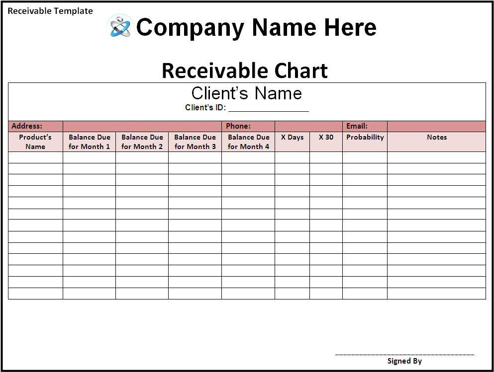 Bill Receivable Template | Free Printable Word Templates,