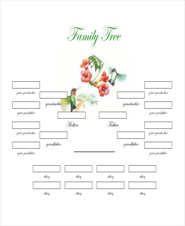 Family Tree Template - 8+ Free Word, PDF Document Downloads   Free ...
