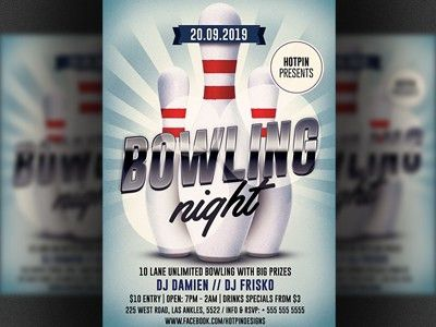 Bowling Night Flyer Template by Christos Andronicou - Dribbble
