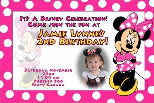 8+ Minnie Mouse Birthday Invitations - Free Editable PSD, AI ...