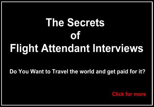 Flight Attendant Job FAQ - Read my answers
