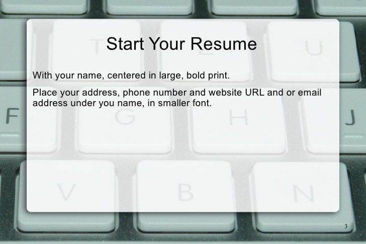 Creating a Content Writer Resume Sample