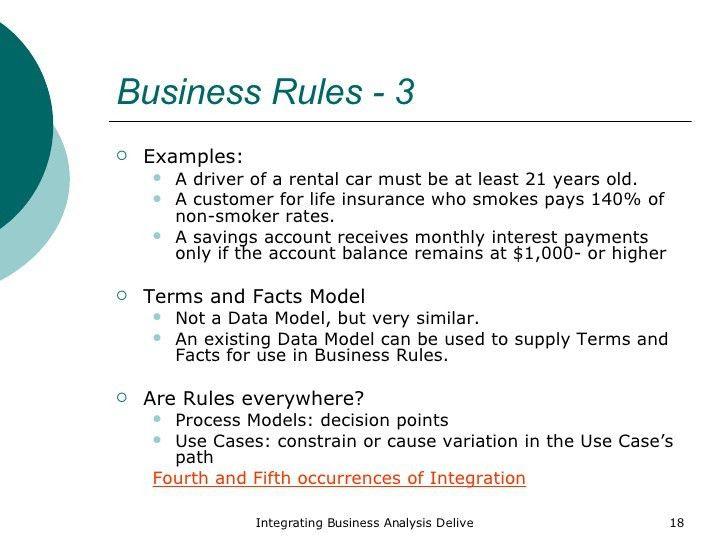 Integrating Business Analysis Artifacts
