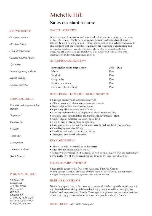 Sales assistant cover letter, free sample, covering letter ...