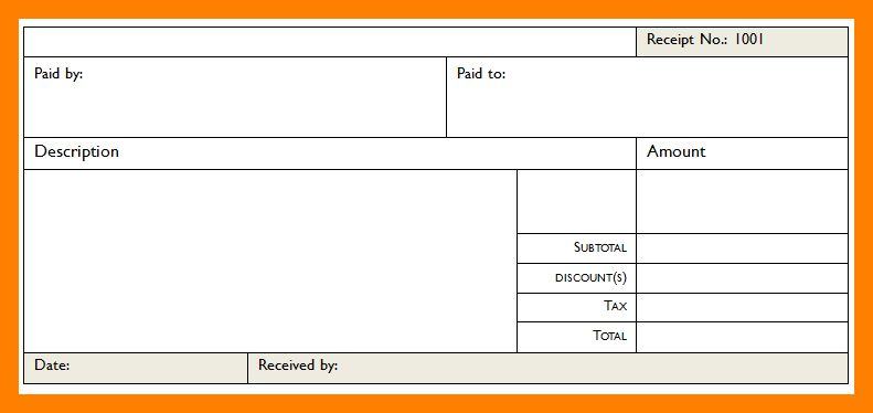 6+ blank receipt template | resume sections
