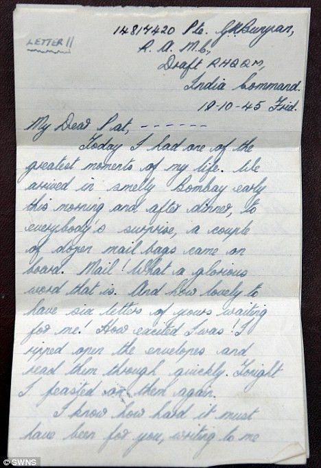 Couple whose wartime romance blossomed in 600 love letters ...