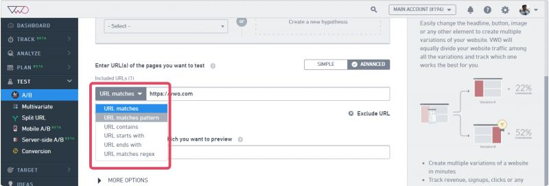 Using Custom URL to Run a Site-Wide Test – Knowledge