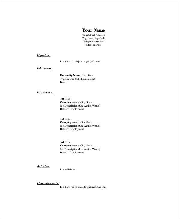 Marketing Resume Template – 10+ Free Word, PDF Documents Download ...