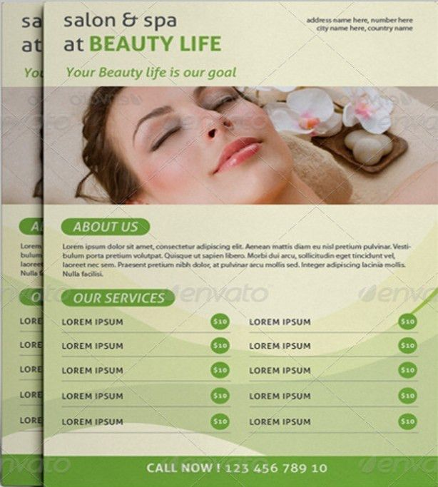 Spa Flyers Templates Free Download In PSD ,AI ,EPS Vector Format ...