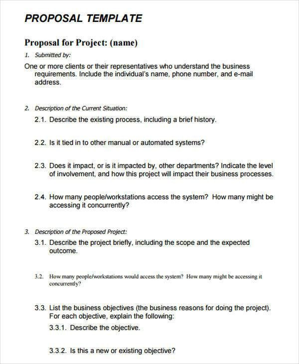 9+ Project Proposal Templates - Free Sample, Example Format Download