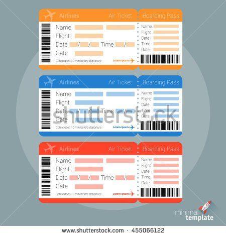 Flat Design Air Ticket Icon Air Stock Vector 455066122 - Shutterstock