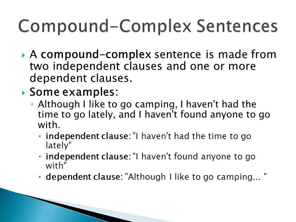 Compound-Complex Sentences - ppt download