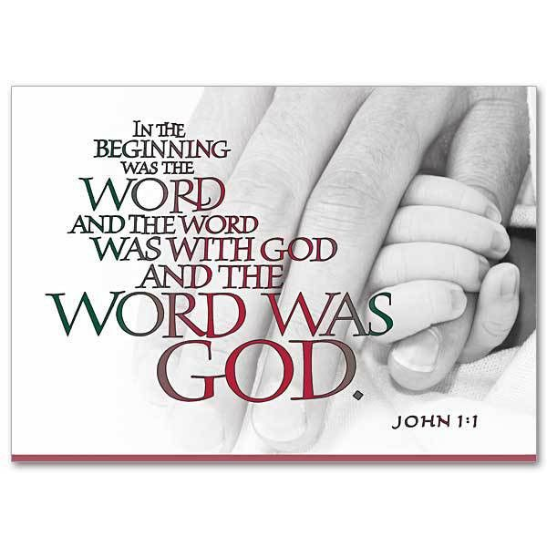 In the Beginning Was the Word: Miracle of Christmas Card