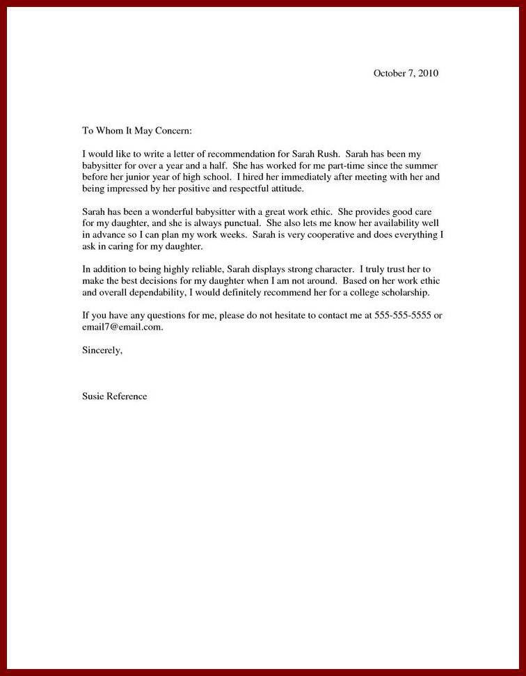 13 Sample Recommendation Letter For Scholarship For Student ...