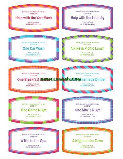 Birthday Gift Coupons Microsoft Publisher Templates related Office ...