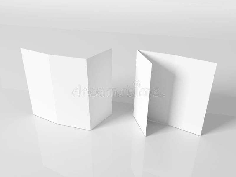 Blank White Booklet Template Royalty Free Stock Images - Image ...