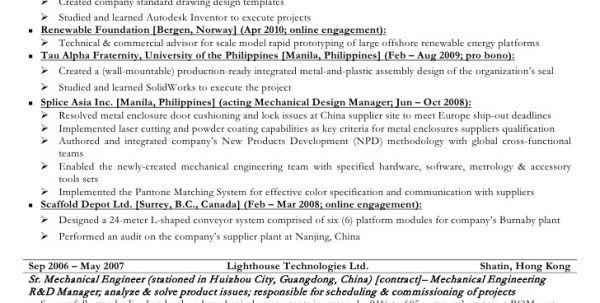 mechanical engineering entry level cv entry level mechanical