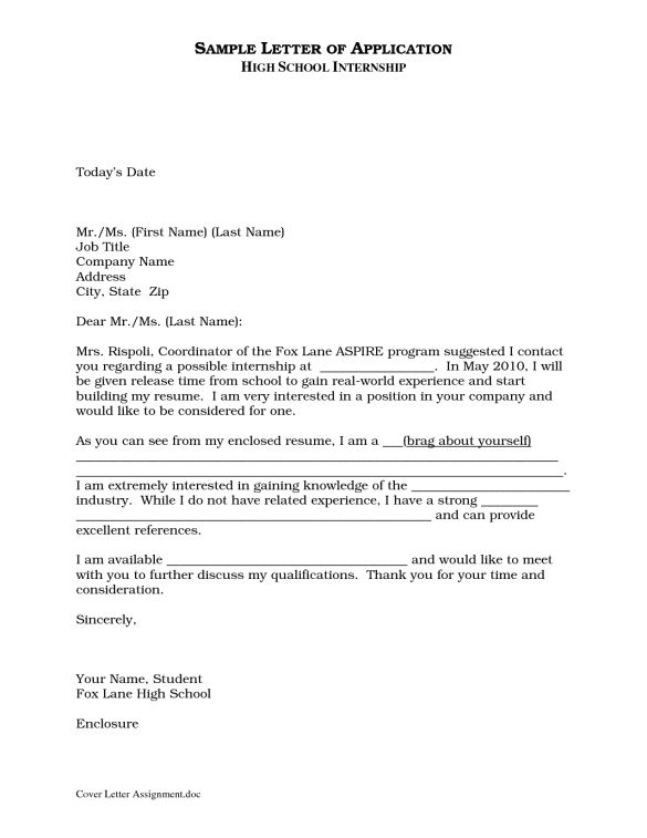 29 Excellent Cover Letters for Internship Applications : Vntask.com