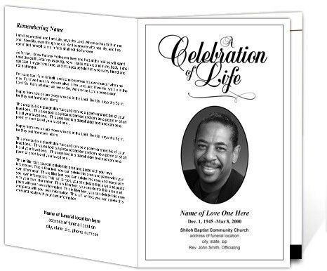 memorial service program template microsoft word