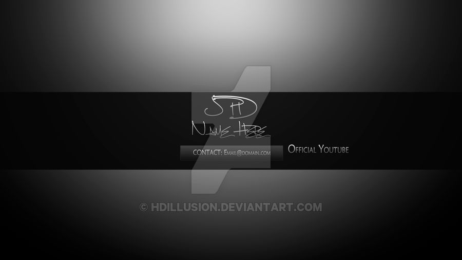 YouTube Banner Template by HDILLUSION on DeviantArt
