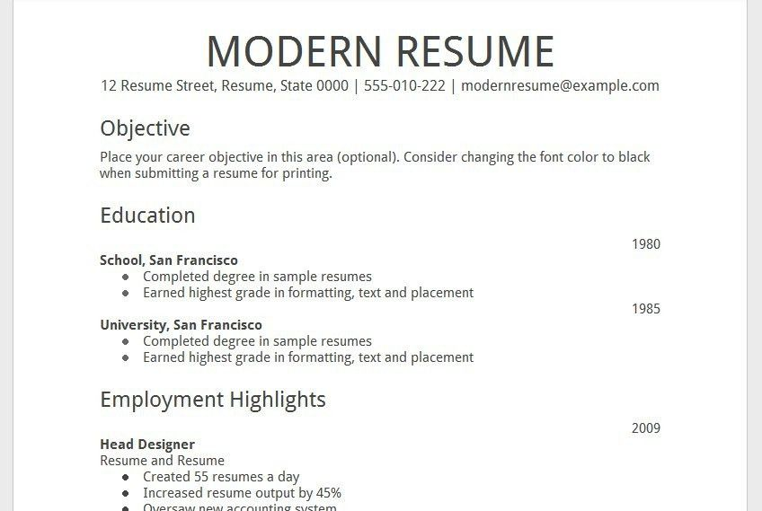 free printable resume examples resume example printable resume ...