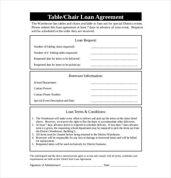 10+ Loan Agreement Templates – Free Sample, Example, Format ...