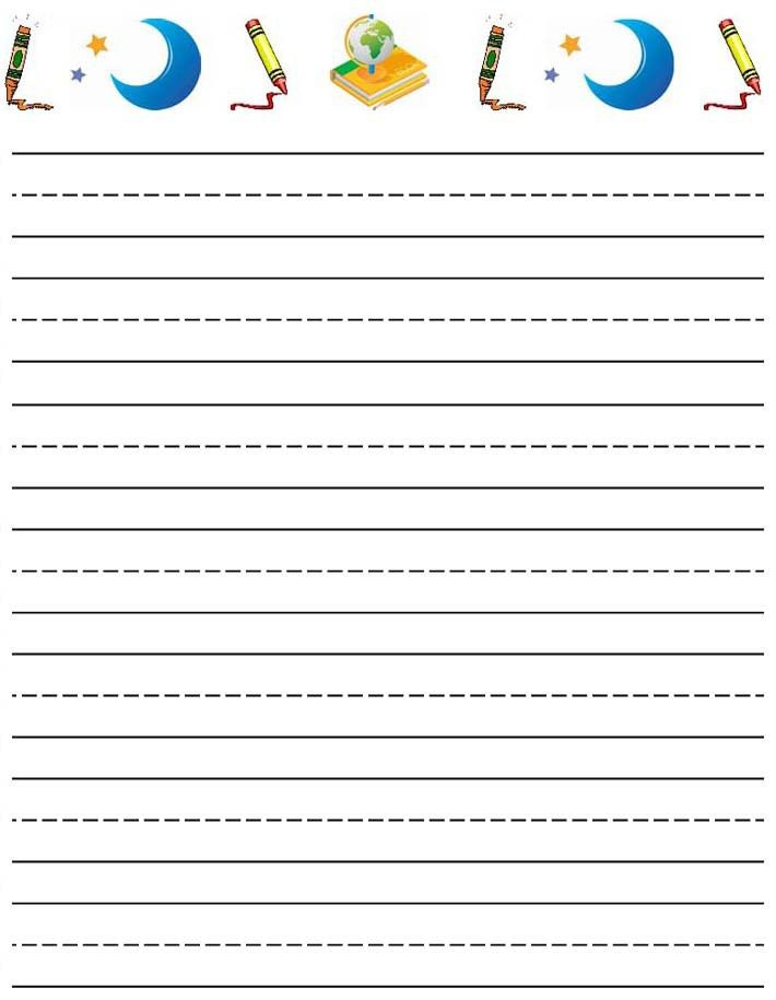 Free Lined Letter Writing Paper Coloring Page Printing Paper For ...