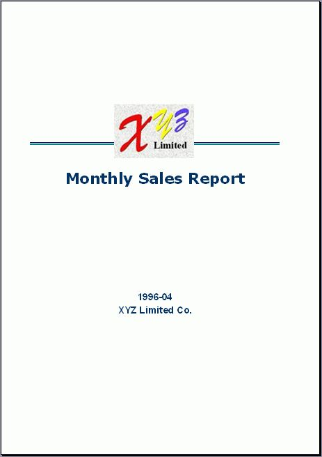 Free Excel Report Sample - Monthly Sales 1