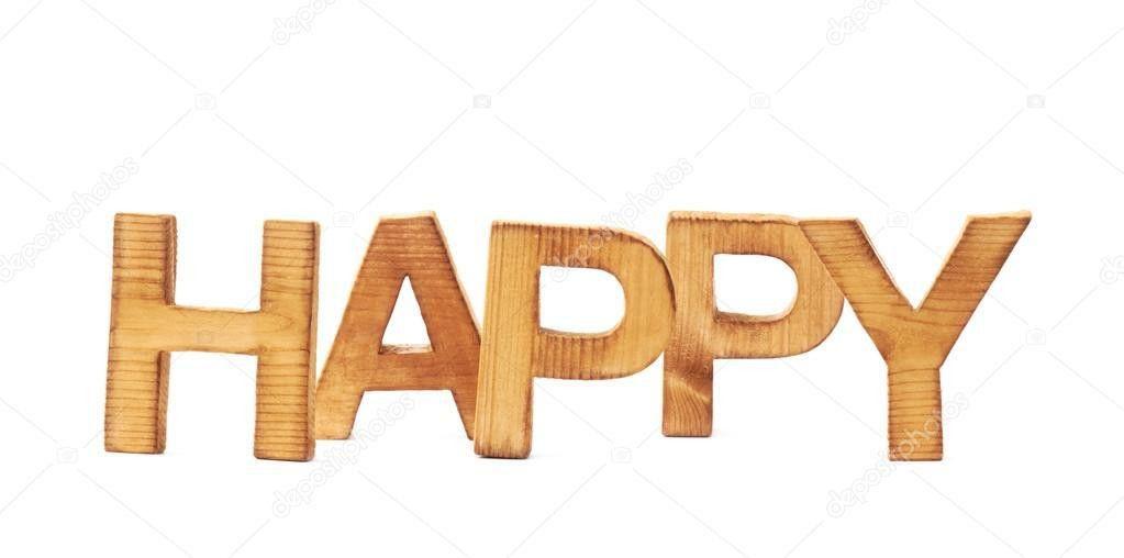 Word Happy made of block letters — Stock Photo © exopixel #59337021