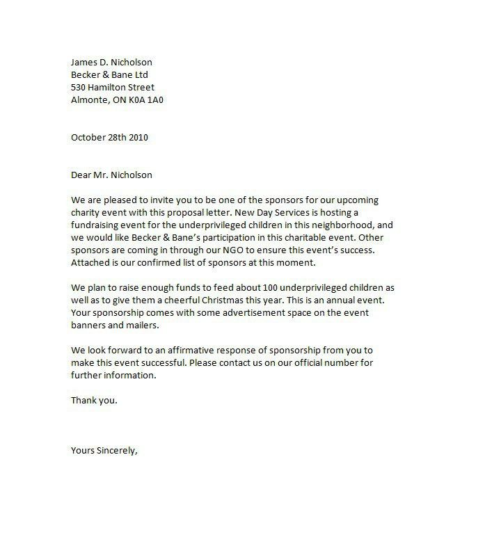 Formal Proposal Letter. Business Proposal Template 05 30+ Business ...