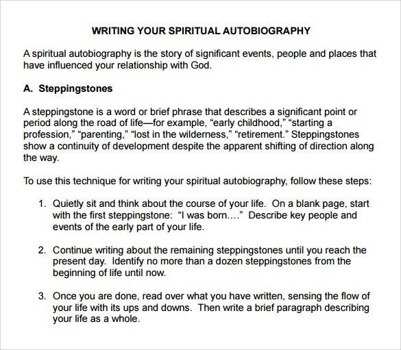 Sample Autobiography - 10+ Documents in PDF, Word