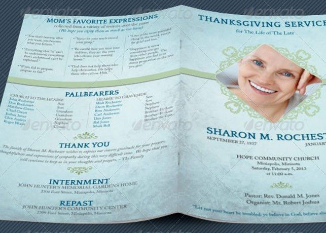 Thanksgiving Funeral Program Template | Godserv Market