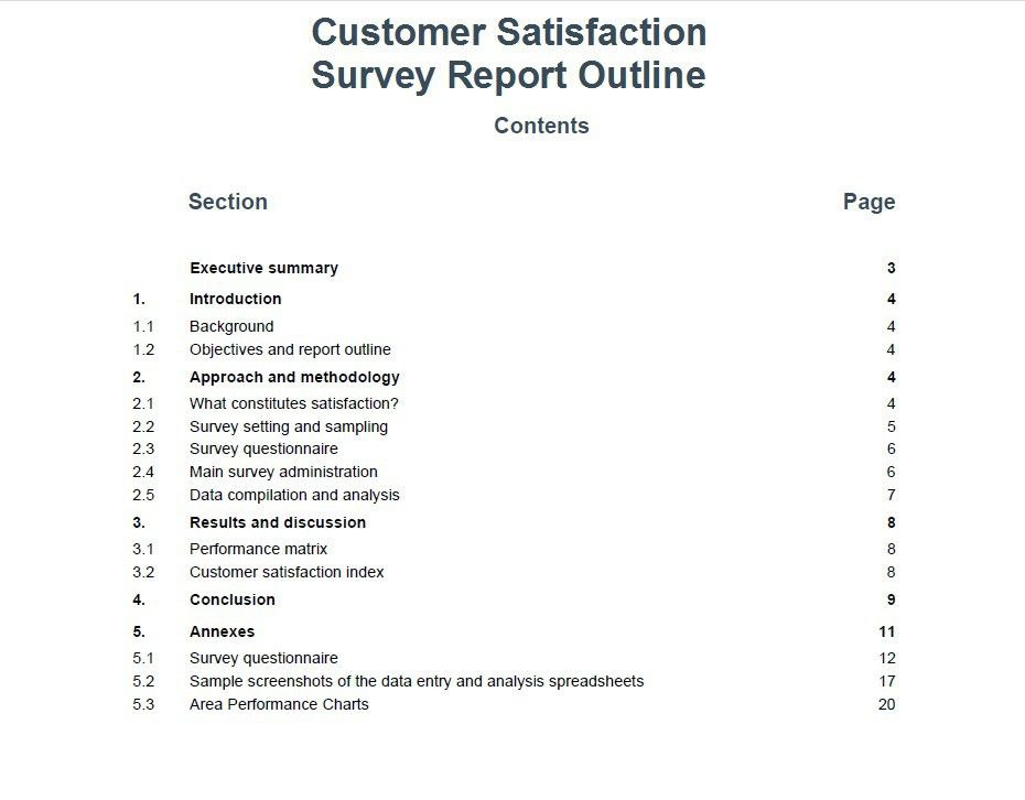 Survey Report Sample. Patient Satisfaction Survey Report Template ...