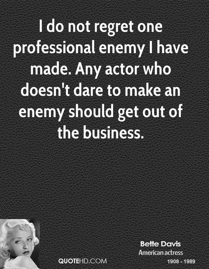 Bette Davis Business Quotes | QuoteHD