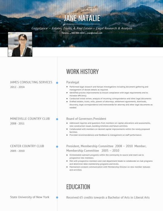 CV examples and live CV samples