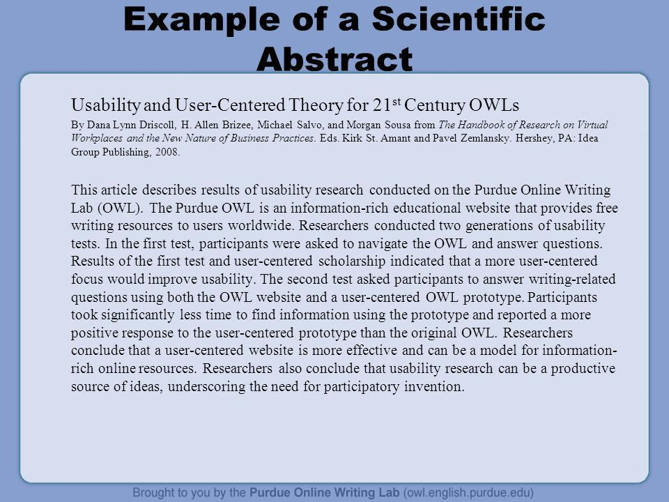 Writing Scientific Abstracts - ppt download