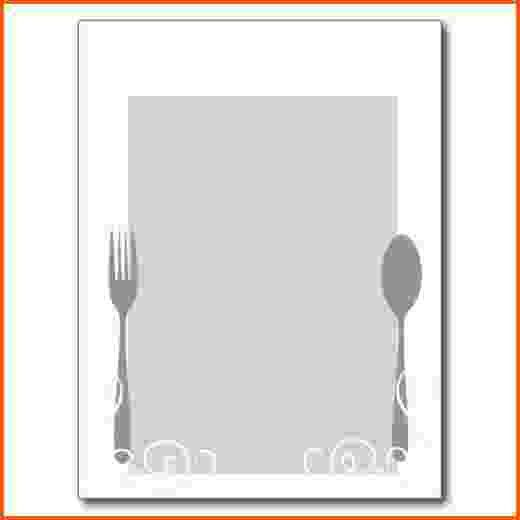 11+ blank menu template | Survey Template Words