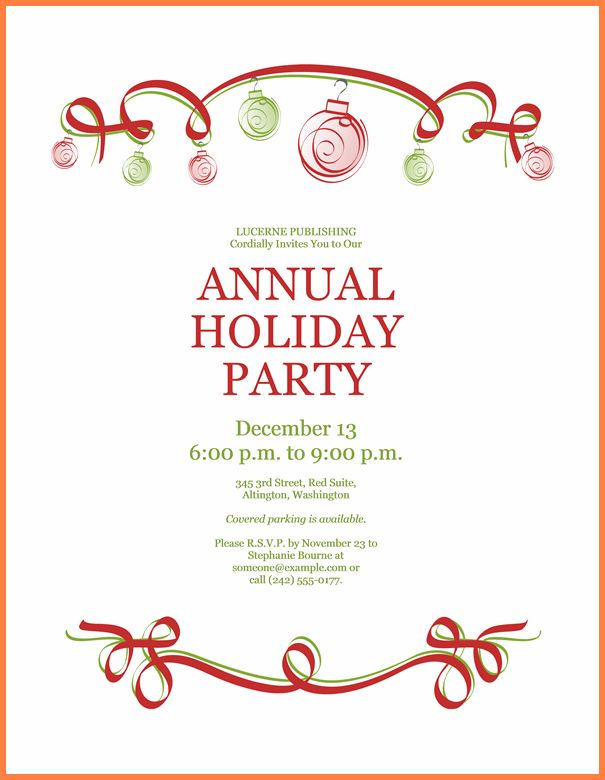Christmas Invitation Free Template. doc 15001071 christmas party ...